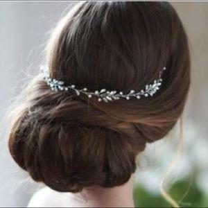 Accessories - Silver crystal wedding bridal hair vine